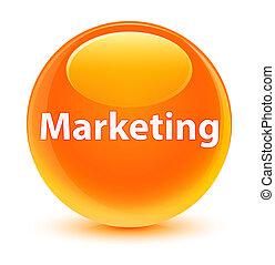 Marketing glassy orange round button