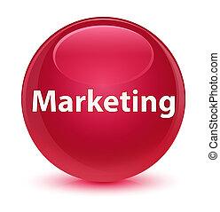 Marketing glassy pink round button