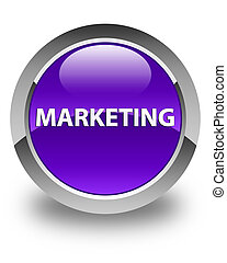 Marketing glossy purple round button