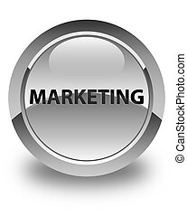 Marketing glossy white round button