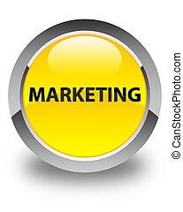 Marketing glossy yellow round button