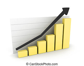 Marketing Graph - 3D Illustration of a Marketing Graph