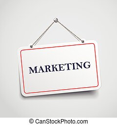 marketing hanging sign