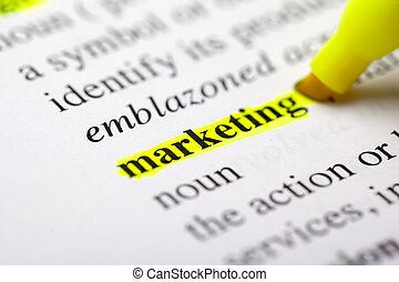 "marketing highlight - The word ""marketing"" is..."