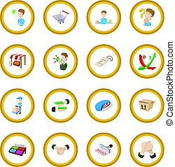 Marketing icon circle