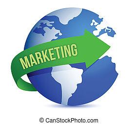 Marketing Idea Concept illustration design over a white ...