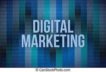 marketing, illustratie, digitale