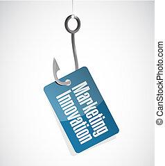 Marketing Innovation hook sign concept