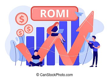Marketing investment concept vector illustration.