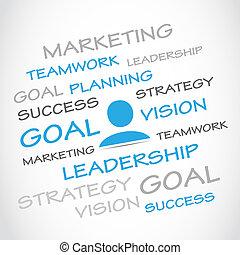 marketing, meta, planificação, trabalho equipe