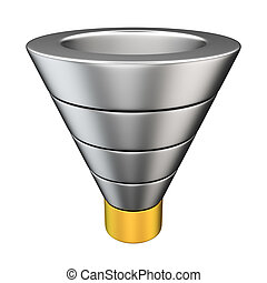 Marketing model - Purchase funnel illustrating the customer...