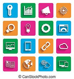 marketing, moderne, internet beelden
