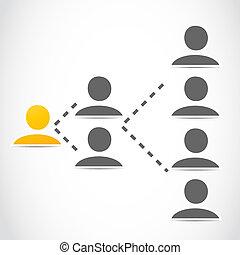 marketing, netwerk, sociaal