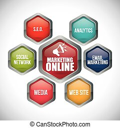 marketing online design, vector illustration eps10 graphic