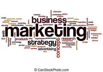 marketing, palavra, nuvem