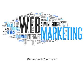 "marketing"", palavra, ""web, nuvem"