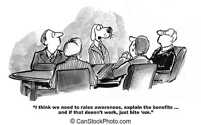 Marketing Plan - Business cartoon about encouraging sales.