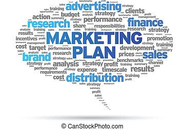 Marketing Plan speech bubble illustration on white...