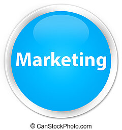 Marketing premium cyan blue round button