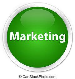 Marketing premium green round button