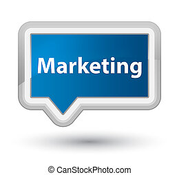 Marketing prime blue banner button