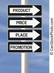 Marketing Principles - Modified one way street signs on the...