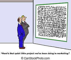 Marketing Project - Business cartoon about a complex project...