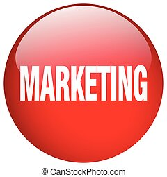 marketing red round gel isolated push button
