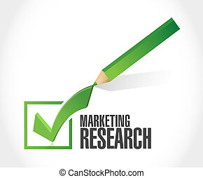 Marketing Research check mark sign concept