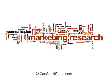 Marketing research word cloud concept
