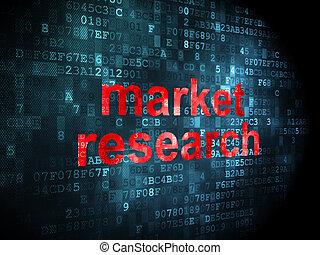 marketing, ricerca,  concept:, fondo, digitale, mercato