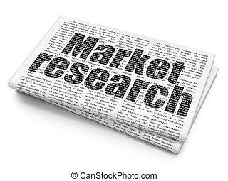 marketing, ricerca,  concept:, fondo, giornale, mercato