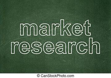 marketing, ricerca,  concept:, lavagna, fondo, mercato
