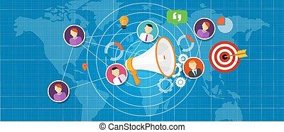 marketing salea team international world globe vector