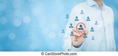marketing, segmentation, führer