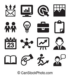 Marketing, SEO and Development icons set. Vector
