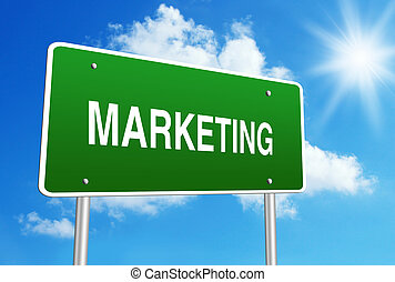 marketing, sinal estrada