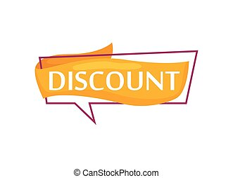 Marketing speech bubble with Discount phrase