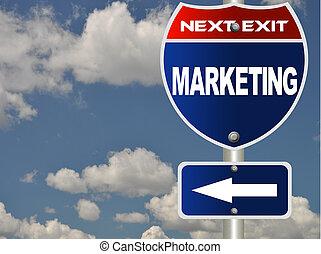 marketing, straße zeichen