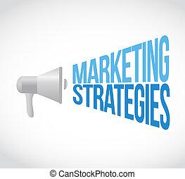 marketing Strategies megaphone message