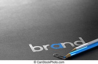 Marketing Strategy Concept, Company Logo Design Background Concept