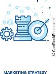 Marketing strategy concept design. Vector line design.