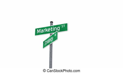 Marketing strategy concept with question mark