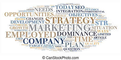 Marketing strategy illustration concept