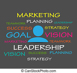 marketing strategy vector background
