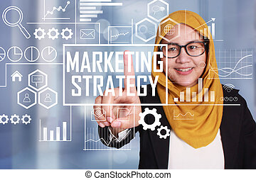 Marketing Strategy in Business Concept