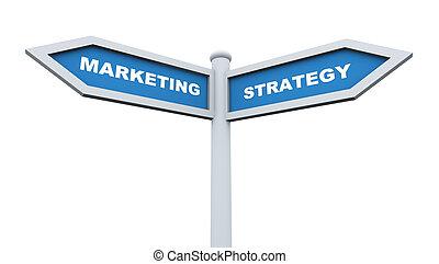 Marketing strategy roadsign