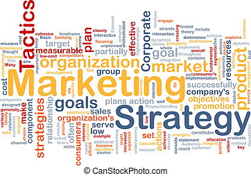 Marketing strategy word cloud - Word cloud concept...