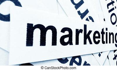 Marketing tag on camera slide