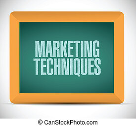 marketing techniques sign illustration design